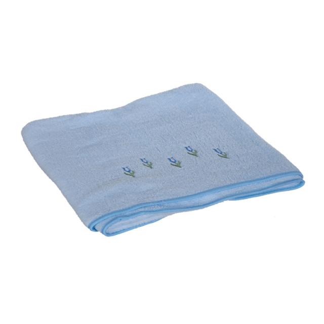 恒立缤纷小花浴巾h1251bt 蓝色 130*68