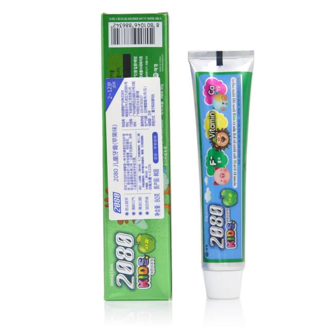 韩国爱敬2080 儿童牙膏苹果味 80g/支