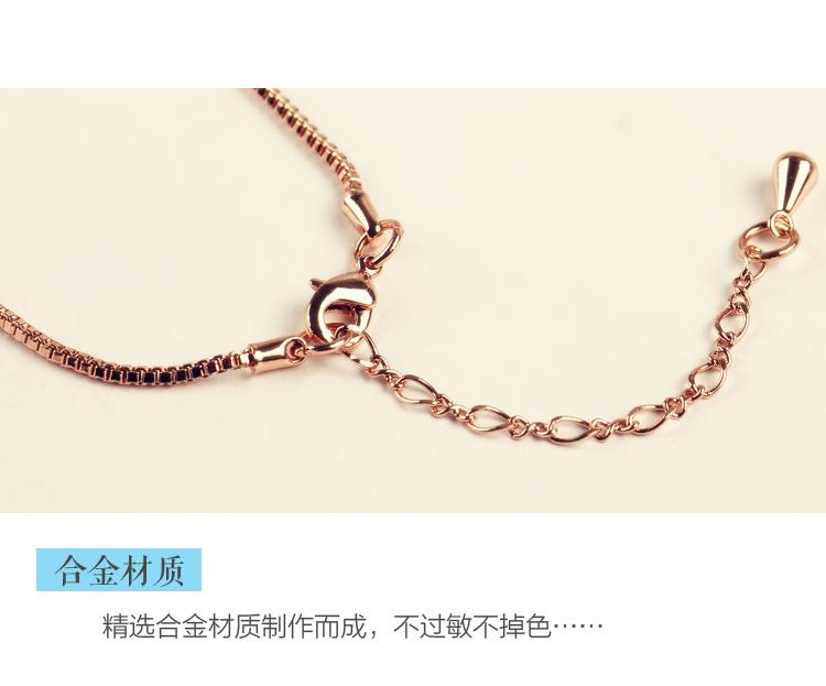饰品材质:合金/镀银/镀金 饰品风格:日韩风格 甜美可爱 休闲百搭 项链